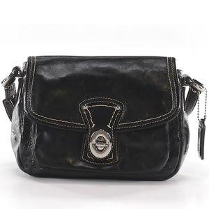 Black Patent Leather Coach Bag